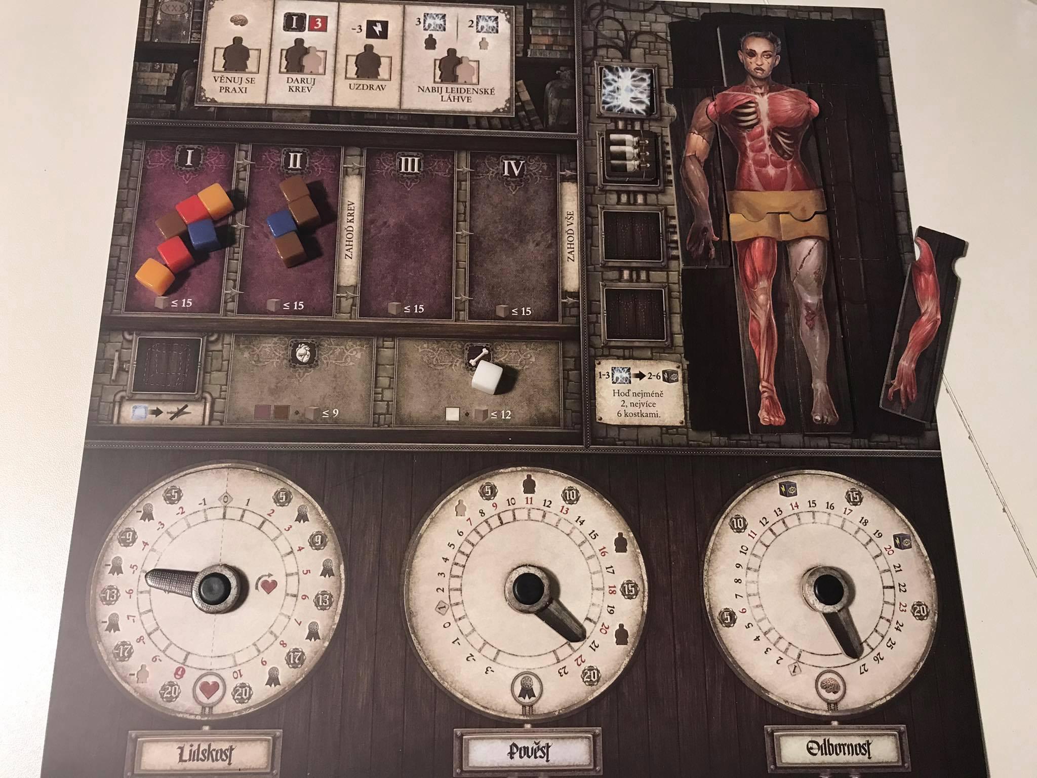 Karta laboratoře Monstrum Frankensteinovi dědicové